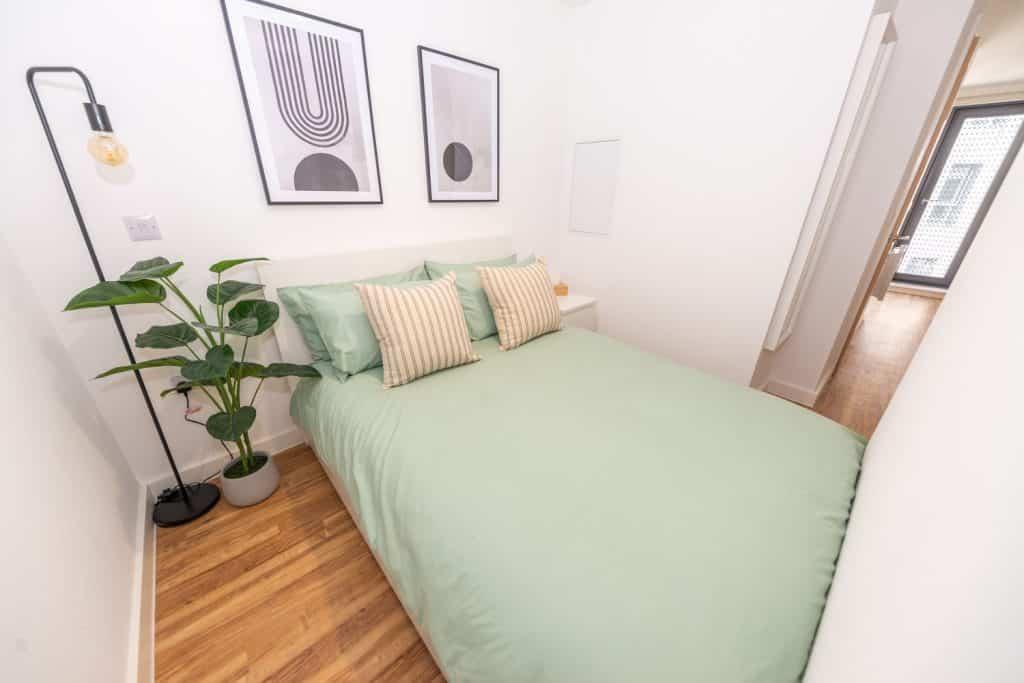 bedroom in the standard studio
